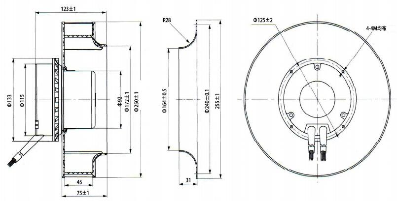 Centrifugal Fan Curve : Custom hvac radial forward curved blades centrifugal fans