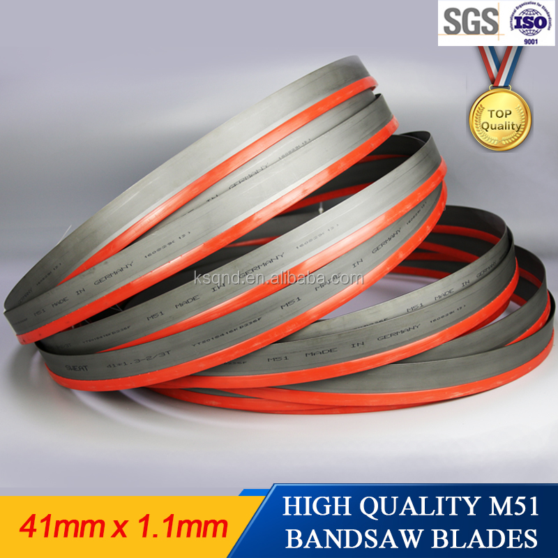 High performance metal cutting band saw blade