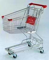 90L kid metal shopping cart for supermarket