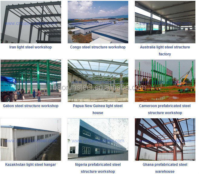 50mm pu sandwich panel and steel structure prefabricated builing and shed