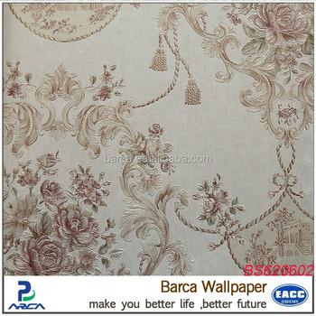 Rococo Style Non Woven 3d Silk Wallpaper For Bedroom Deco