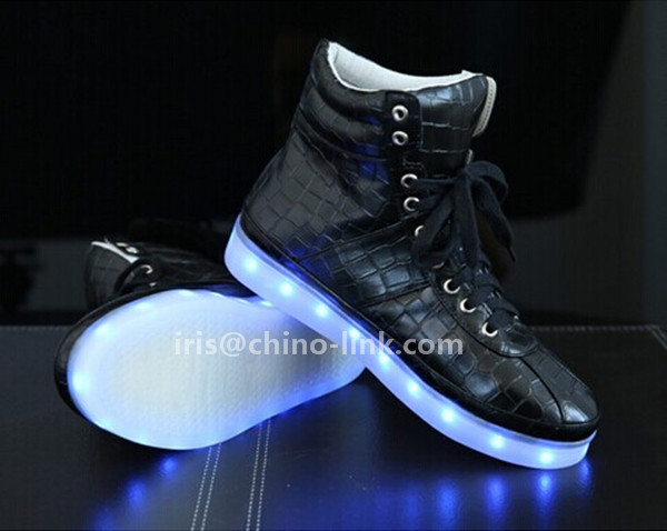 New model long neck men led light sneakers shoes casual shoes for adult,  View led sneakers, chino,link Product Details from Jinjiang Chenfeng Shoe