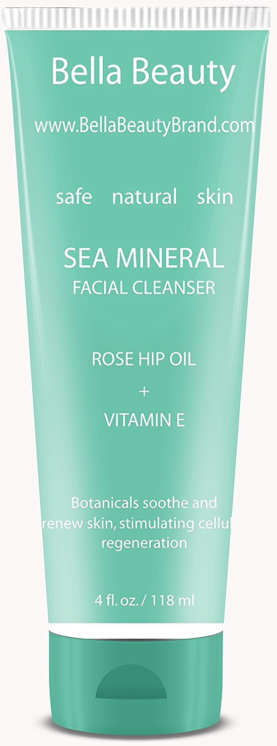 Natural Facial Cleanser - Organic Face Wash Cleanser Deep Clean Unclog Pores - Vitamin E Rose Hip Oil - Face Cleanser for Healthy Youthful Skin