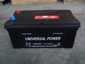 N200 Mf 12v 200ah Car Battery/mf Automobile Battery/starting ...