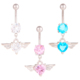 Fashion Navel Belly Rings Stainless Steel Wingst Dangle Belly Jewelry Body Piercing Jewelry