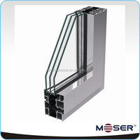 Energy saving aluminum profile windows and door