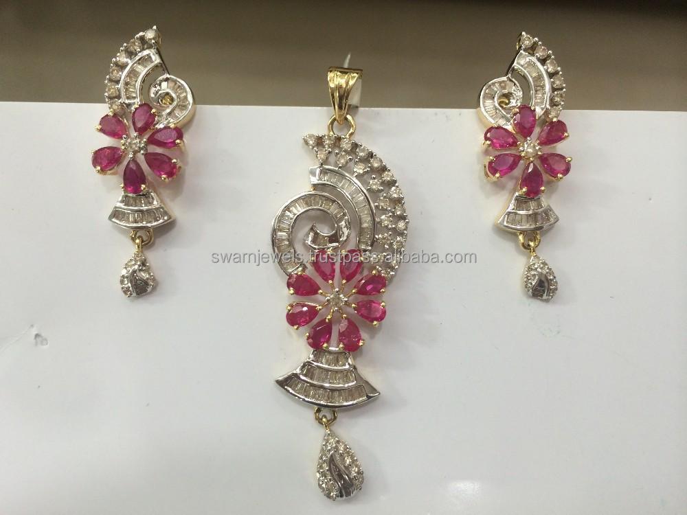 14k bis hallmarked gold ruby diamond pendant set buy diamond 14k bis hallmarked gold ruby diamond pendant set buy diamond pendantpave diamond pendantalphabet diamond pendant product on alibaba aloadofball Images