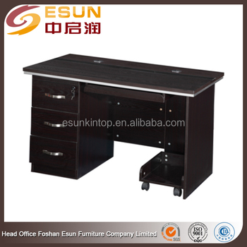 Modern Melamine Metal Frame Wood Computer Table Models With Good ...