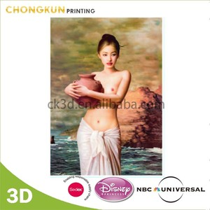 Manufacture 3D Lenticular Nude Lady Art Picture