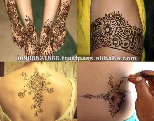 Naturel de tatouage au henné