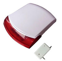 Wireless Outdoor Strobe Siren,alarm device,flashing light and sound