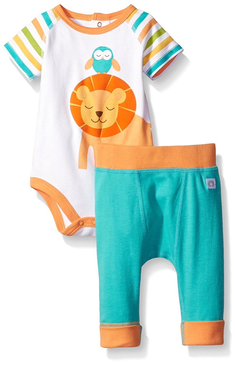 Boppy Baby 2 Piece Pant Set, Turquoise, 6 Months