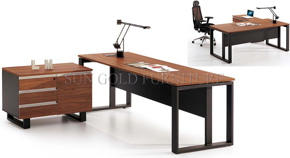 New Design Office Desk Ceo Melamine Wooden Office Furniture