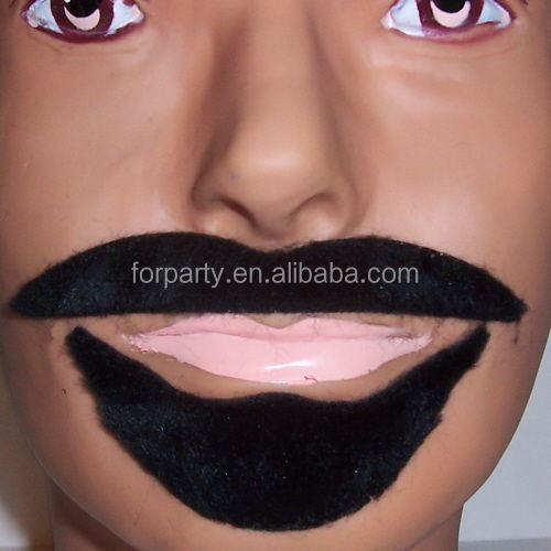 MUS-1110 Black Arabian Mustache Beard Fake Moustache