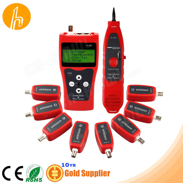 8pcs Adapter in RJ45 RJ11 BNC USB Cable Tester & Wire Tracker RJ45 RJ11 BNC USB