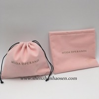 Cheap Pink Jewelry pouch , Cosmetic velvet pouch