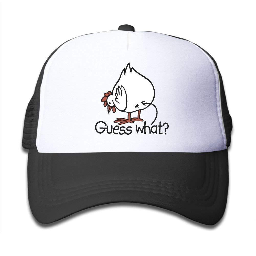Guess What Chicken Kids Girls Boys Adjustable Mesh Cap Baseball Caps  Trucker Hat f095221ce4c8