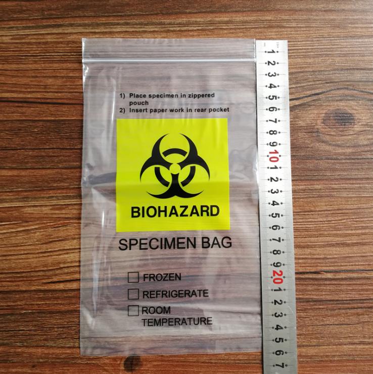 plastic manufacturer BioHazard Zip Lock Medical Specimen Bags