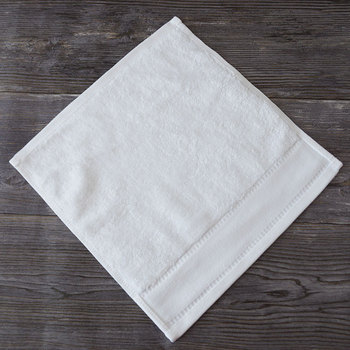 100% cotton white hotel face towel