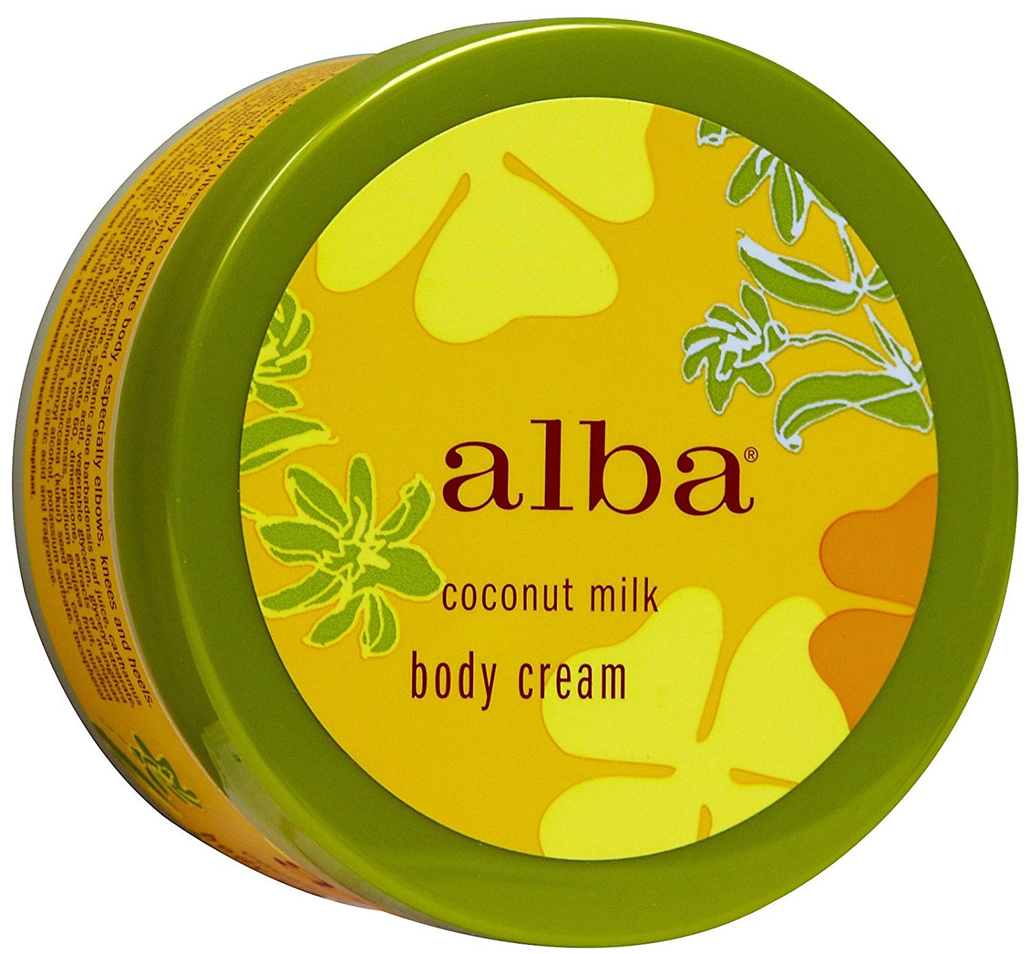 Alba Botanica Moisturizing Body Cream, Coconut Milk