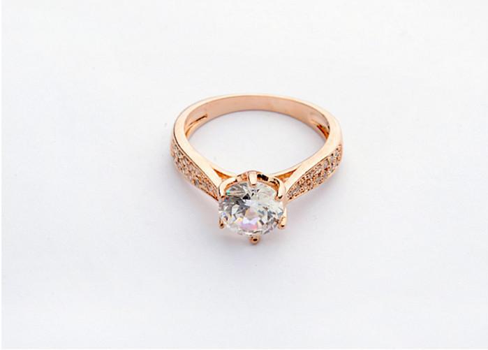 2015 single stone ring designs zircon finger ring wedding gold