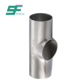 Chinese supplier hot selling sanitary stainless steel welded straight tee for food grade
