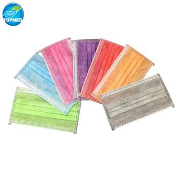 disposable Non-woven Tie-on - Loop Buy Disposable Ear Colorful Mask Cover Mask Beard Surgical Face Mask 3ply