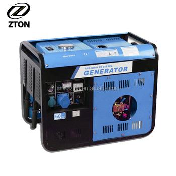 Single phase big power 192f engine diesel generator 6500w for Used motor oil generator