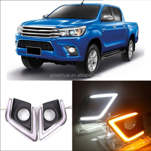 LED Daytime Running Lights For Vigo revo 2015 2016 White DRL Light Fog Lamp Cover Kits