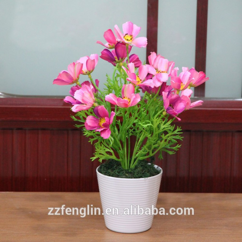 Mini Silk Cosmos Flower Bush Home Table Decorative Artificial Flower