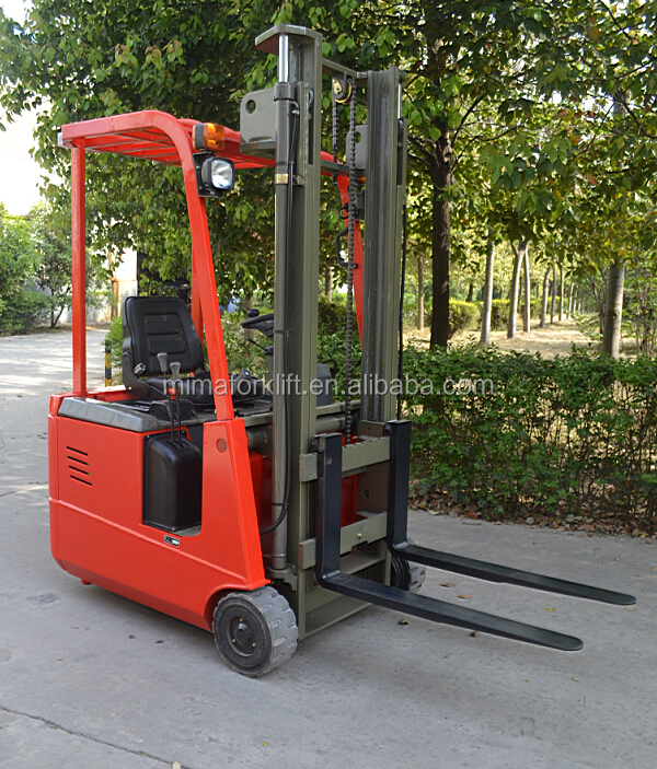 good quality of 1 ton three wheel electric forklift