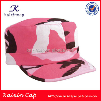 5dfe5748 pink screen print camo rhinestone Military cap hat with heat transfer pint  custom photo