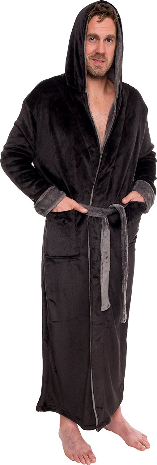 Pretty Nice 00e2d A9630 Get Quotations Ross Michaels Mens Hooded Long Robe Full Length