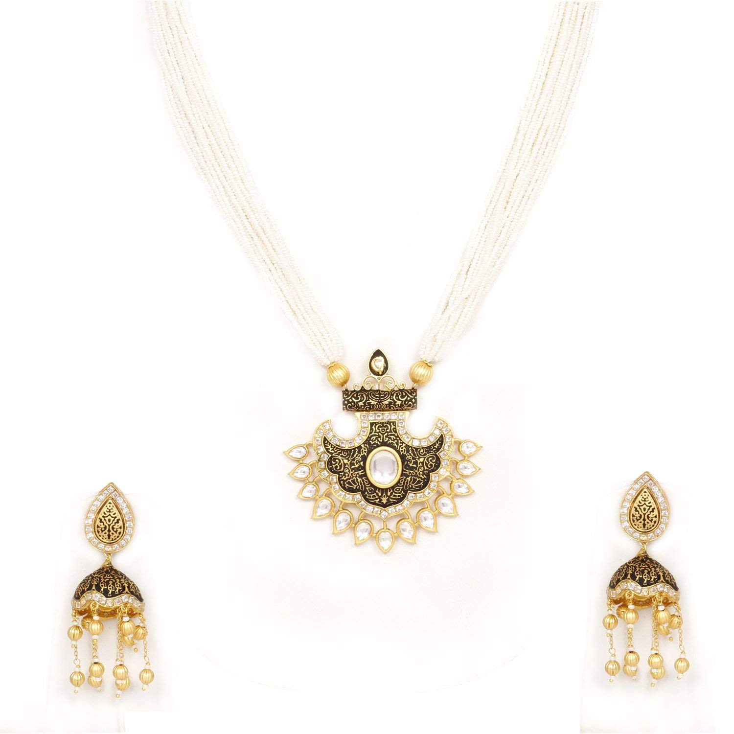 ce4a418c1 Get Quotations · Indian Bollywood Traditional gold plated Bridal wedding  Kundan Earring set with pink pearl Fashion earring set
