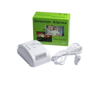 Home Independent Wired Co Alarm Portable Lpg Gas Leak Detector ...