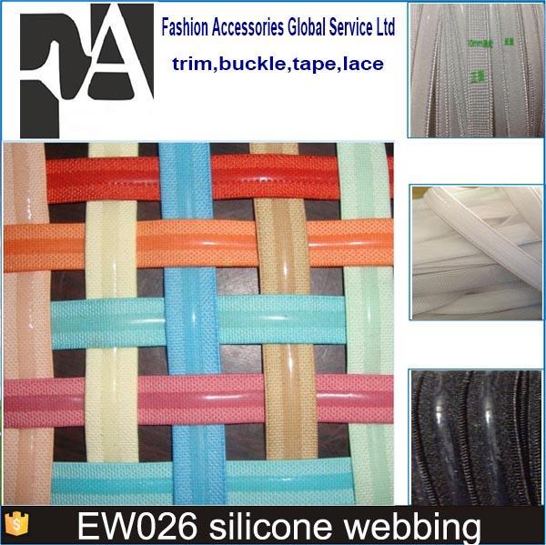gro handel hochwertige nylon benutzerdefinierte farbe silikon gummiband f r kleidung gurtband. Black Bedroom Furniture Sets. Home Design Ideas