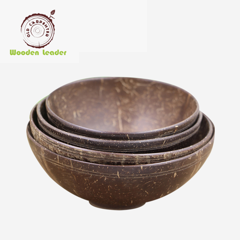 2018 Hot sale natural handmade Coconut shell bowl lacquer coconut bowls Coconut wood Bowl