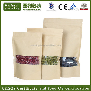 Food Kraft Paper Bag For Whole Wheat Flour Packaging