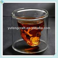 skull glass wine glass