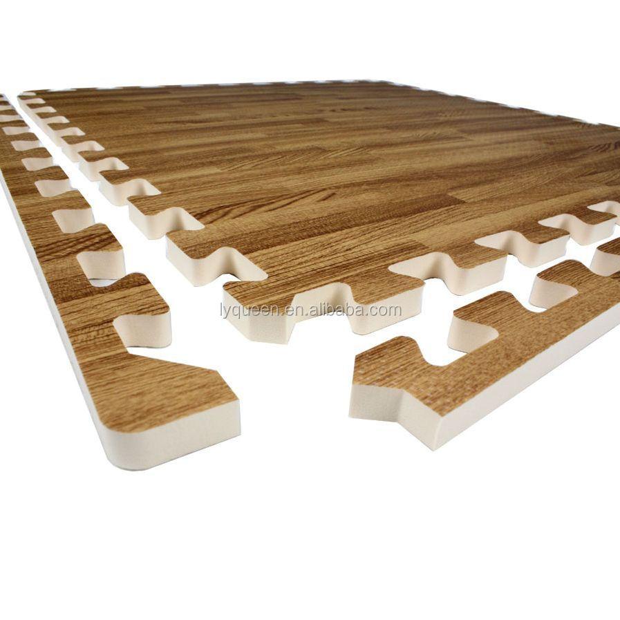 play puzzle deep itm lot wood tiles mat gym foam eva interlocking grain floor