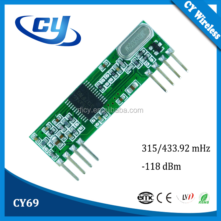 CY69 Low Power Consumption RF Receiver Module 433.92MHz