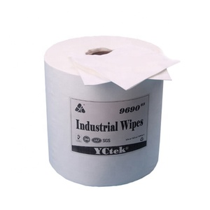 manufacture supplier cellulose polyester nonwoven fabric dry/wet industrial cleaning wipes