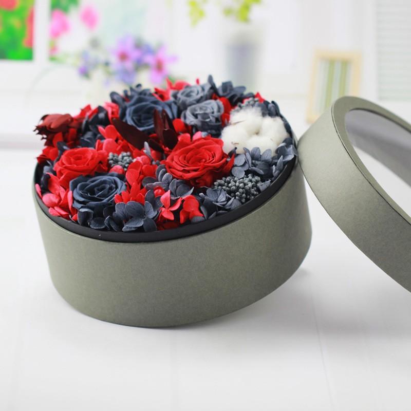 Box Flower Gift Wedding Favour Rose Flowernatural Artificial ...