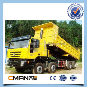iveco technology genlyon dump truck tipper Italy 8x4 Cursor engine 390hp for Ethiopia markets
