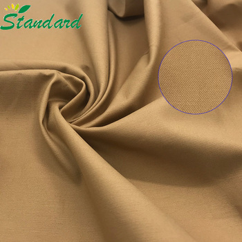 excellent quality 97% cotton 3% spandex woven soild dyed custom calico stretch satin pants fabric