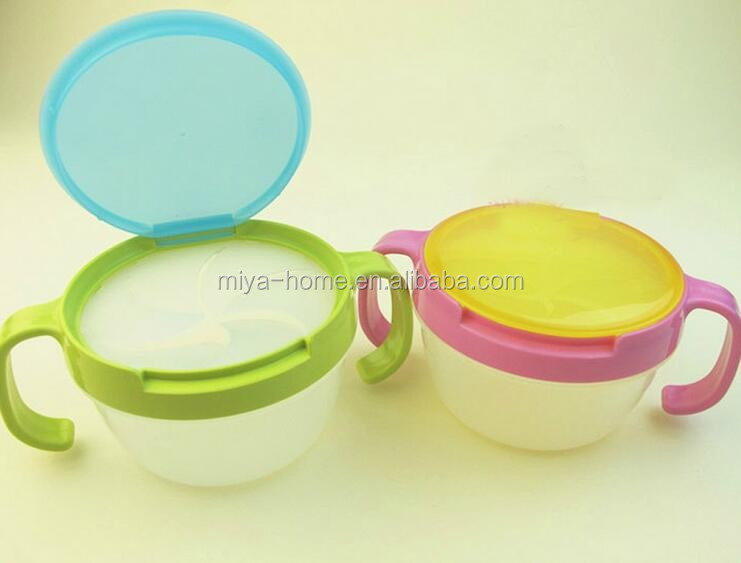 BPA free plastic baby snack cup / baby snacks bowl with handle / baby cookies cup