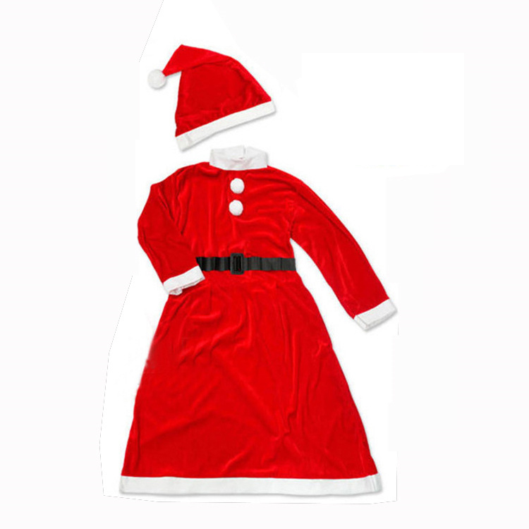 <strong>Christmas</strong> manufacturers 2017 Promotion spot adult female clothing Santa Claus clothes evening performance non-woven clothing