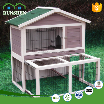 2017 New Arriver Rabbit Hutch And Run Guinea Pig Cage Rabbit Hutch