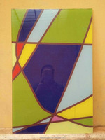 new art chinese decorative stained glass with cheap price