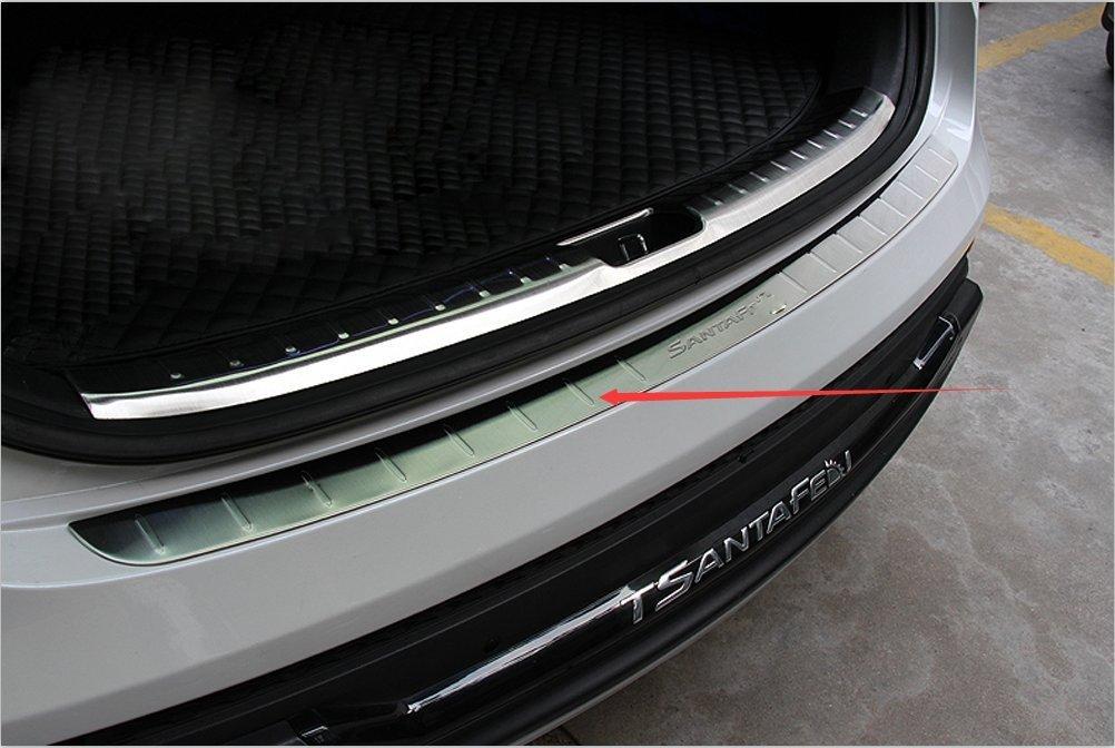 Rear Bumper Sill Plate Guard for Hyundai Santa Fe 2013-2016 Scuff Protectors